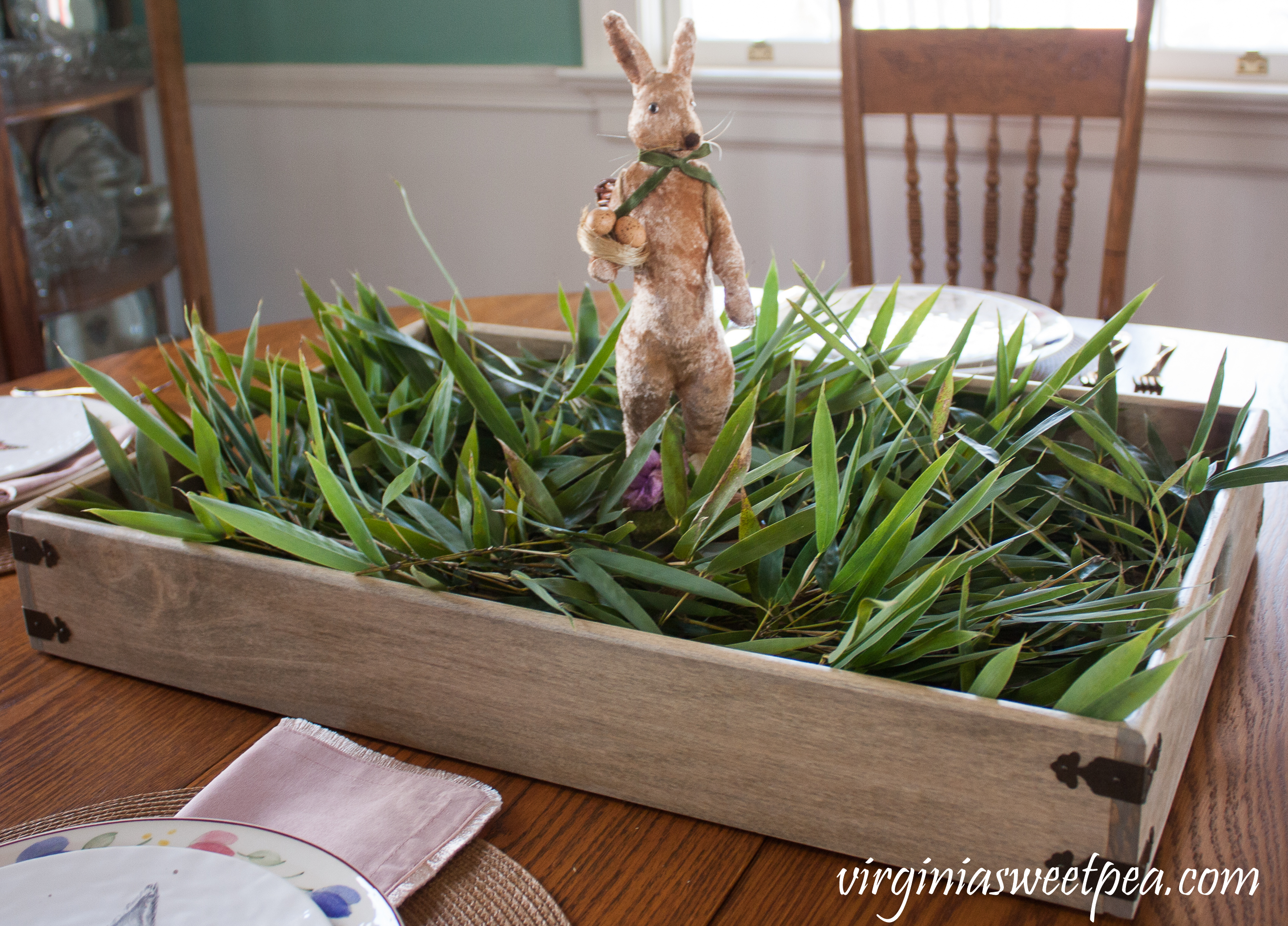 How to Make a Farmhouse Style Easter Centerpiece - Step by step tutorial