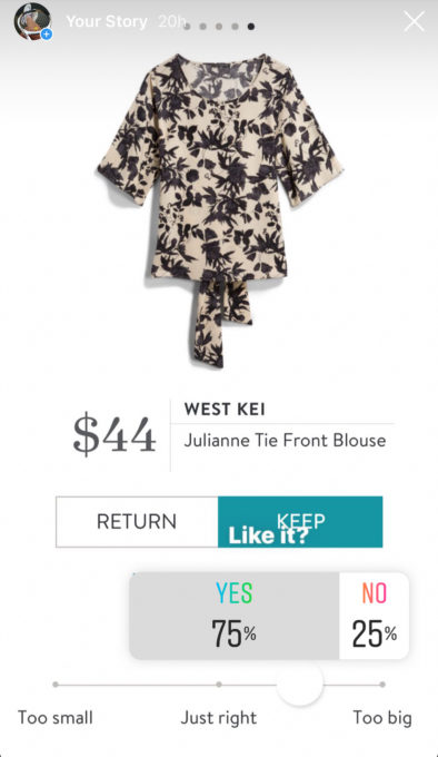 Instagram opinion of a Stitch Fix West Kei Julianne Tie Front Blouse