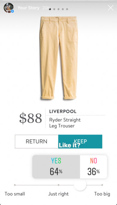 Instagram opinion of a Stitch Fix Liverpool Ryder Straight Leg Trouser