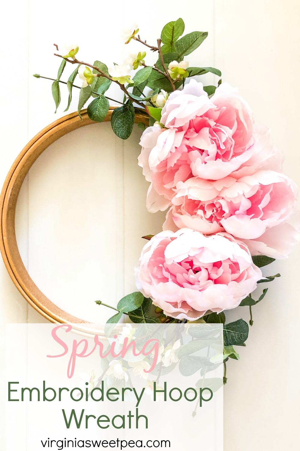 DIY Spring Embroidery Hoop Wreath - Learn how to make this wreath for your home. #springwreath #embroideryhoopcraft #embroideryhoop #springcraft via @spaula