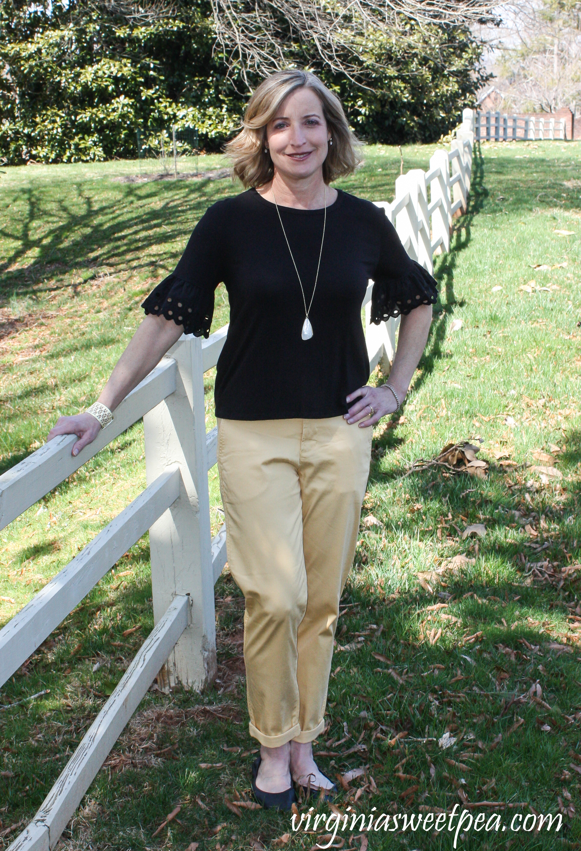 Stitch Fix Review for April 2019 - Liverpool Ryder Straight Leg Trouser #stitchfix #stitchfixreview #stitchfixspring #springstitchfix