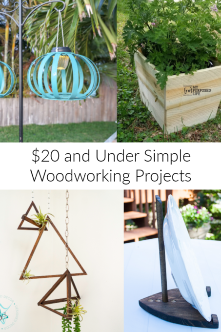 $20 and Under Simple Woodworking Projects