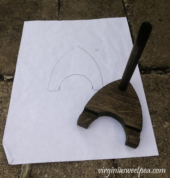 DIY wood display stand tutorial