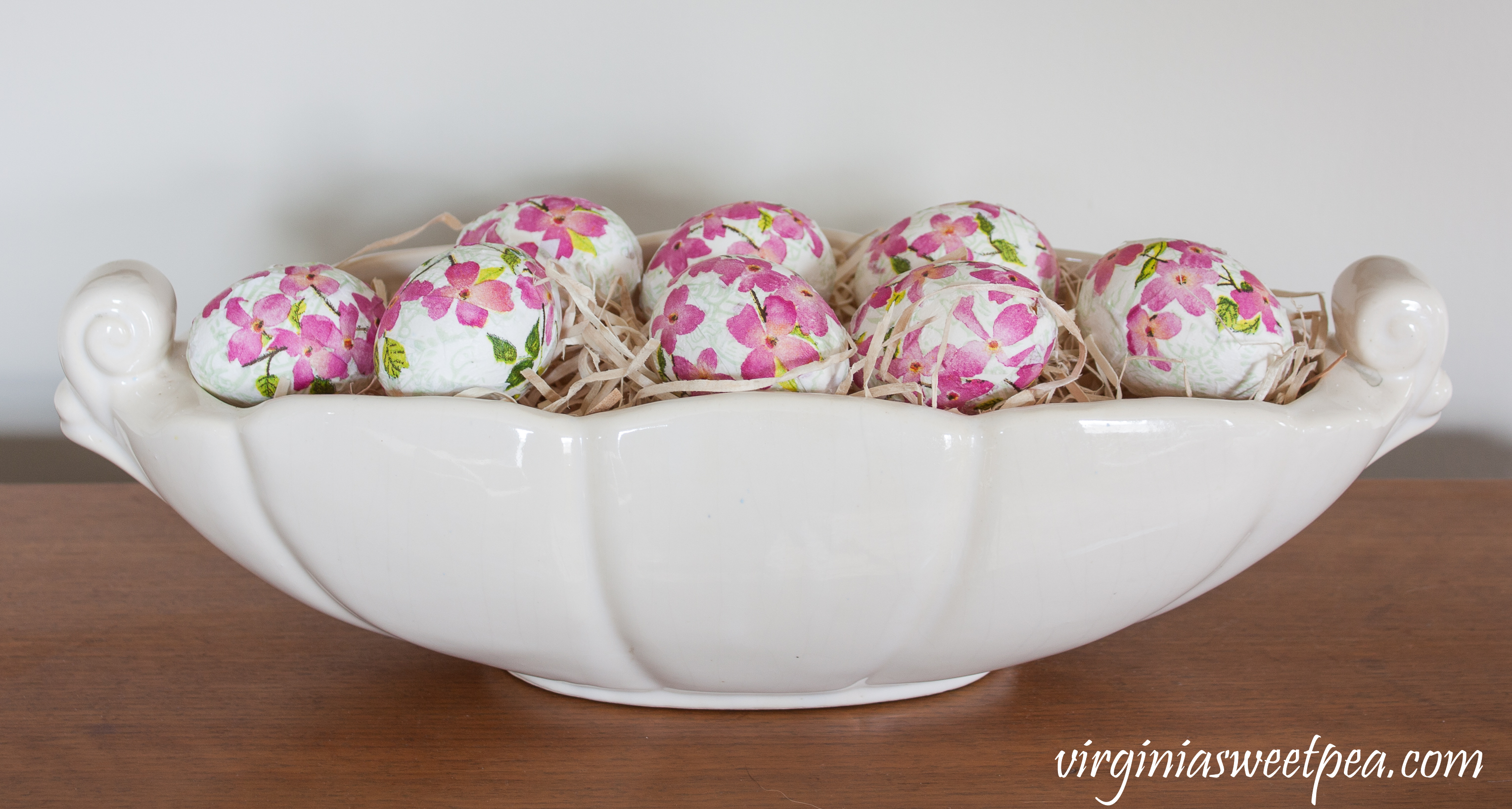 DIY Decoupaged Floral Easter Eggs