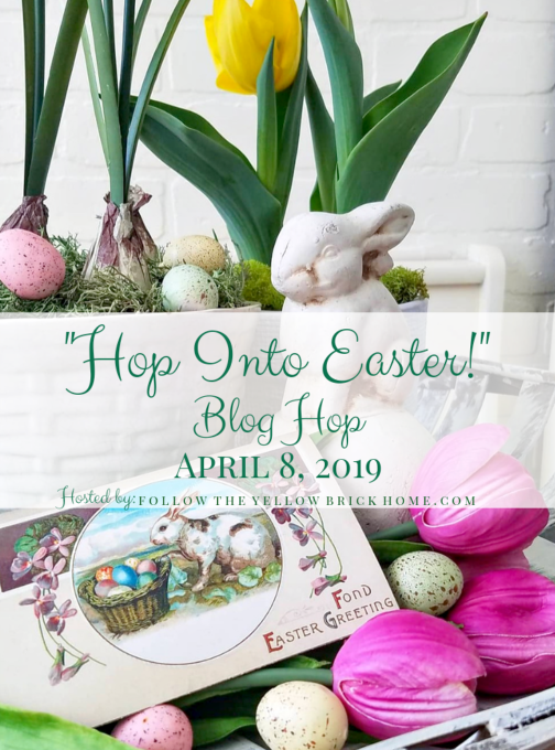 Hop into Easter Blog Hop - Get ideas for Easter decor from 30+ home decor bloggers.