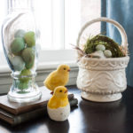Spring Mantel and Easter Vignette