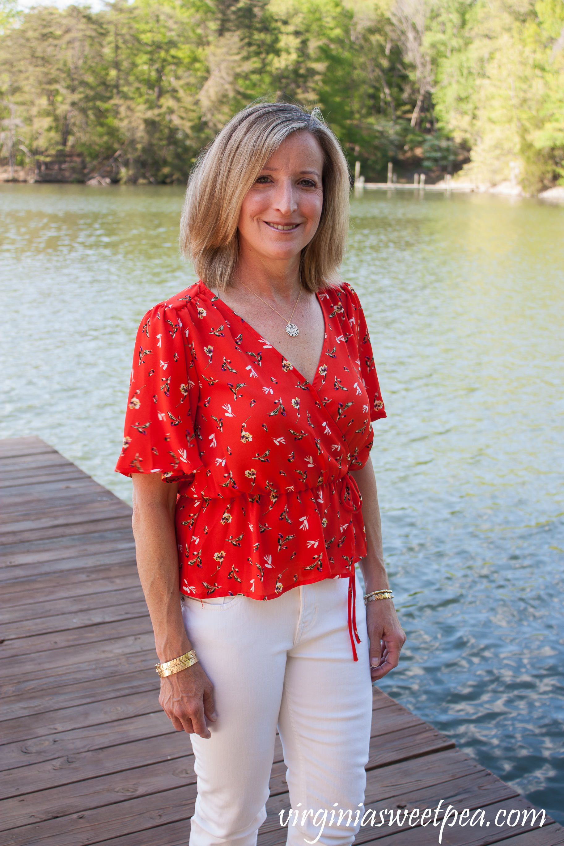Stitch Fix Review for May 2019 - ASTR Tawnia Surplice Blouse #stitchfix #stitchfixreview #stitchfixsummer