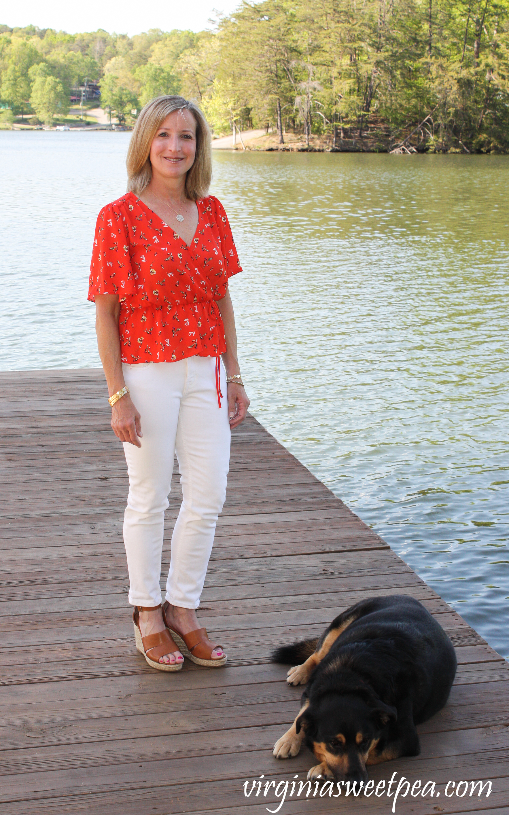 Stitch Fix Review for May 2019 - ASTR Tawnia Surplice Blouse #stitchfix #stitchfixreview #stitchfixsummer #shermanskulina