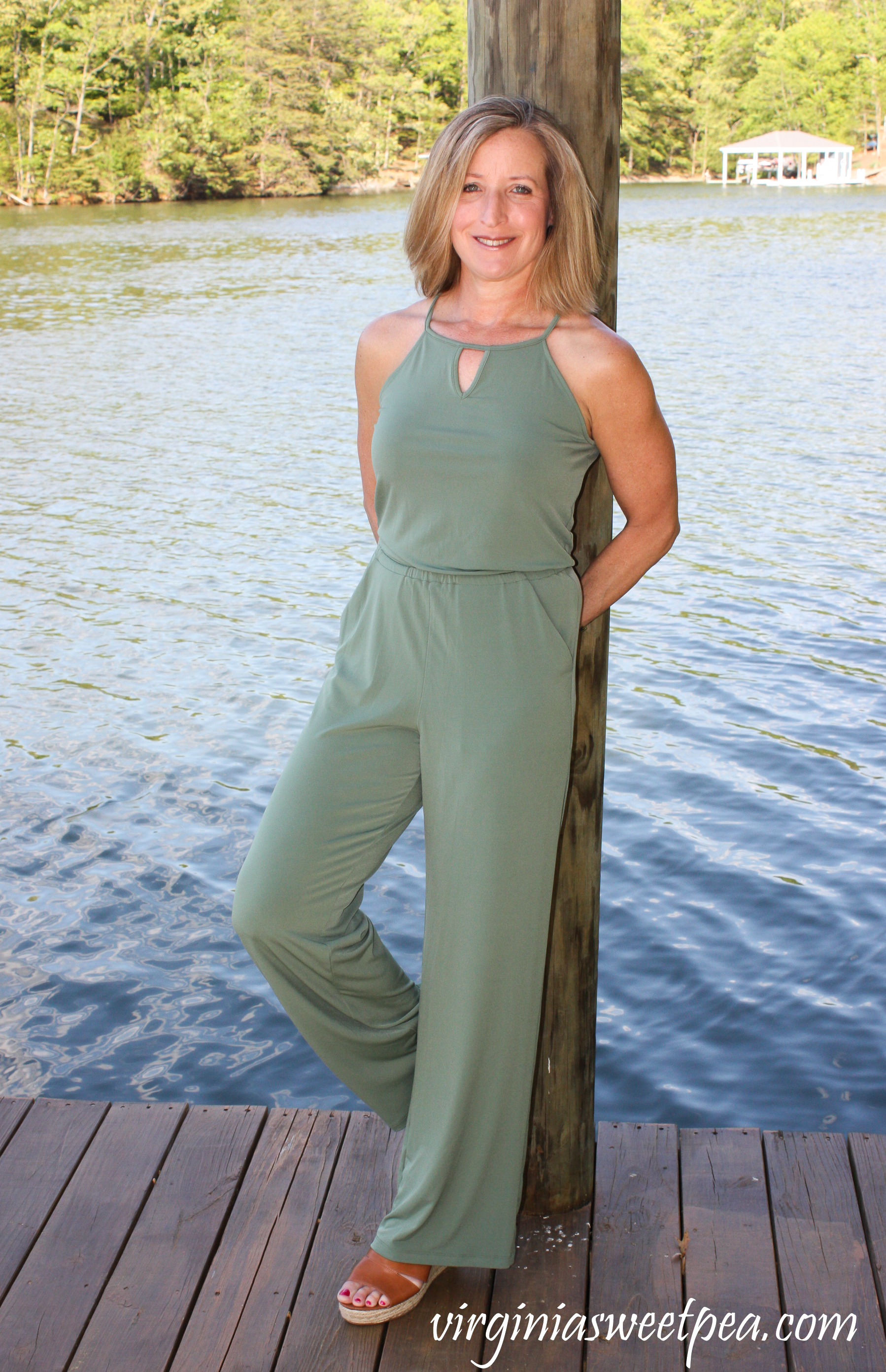 Stitch Fix Review for May 2019 - Goldray Lowrey Knit Jumpsuit #stitchfix #stitchfixreview #stitchfixsummer
