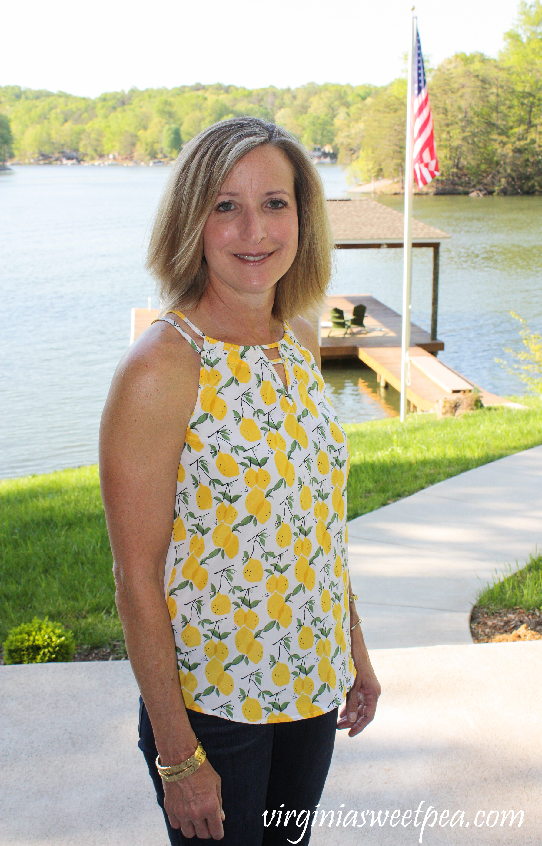 Stitch Fix Review for May 2019 - Market & Spruce Mixed Media Halter Top #stitchfix #stitchfixreview #stitchfixsummer