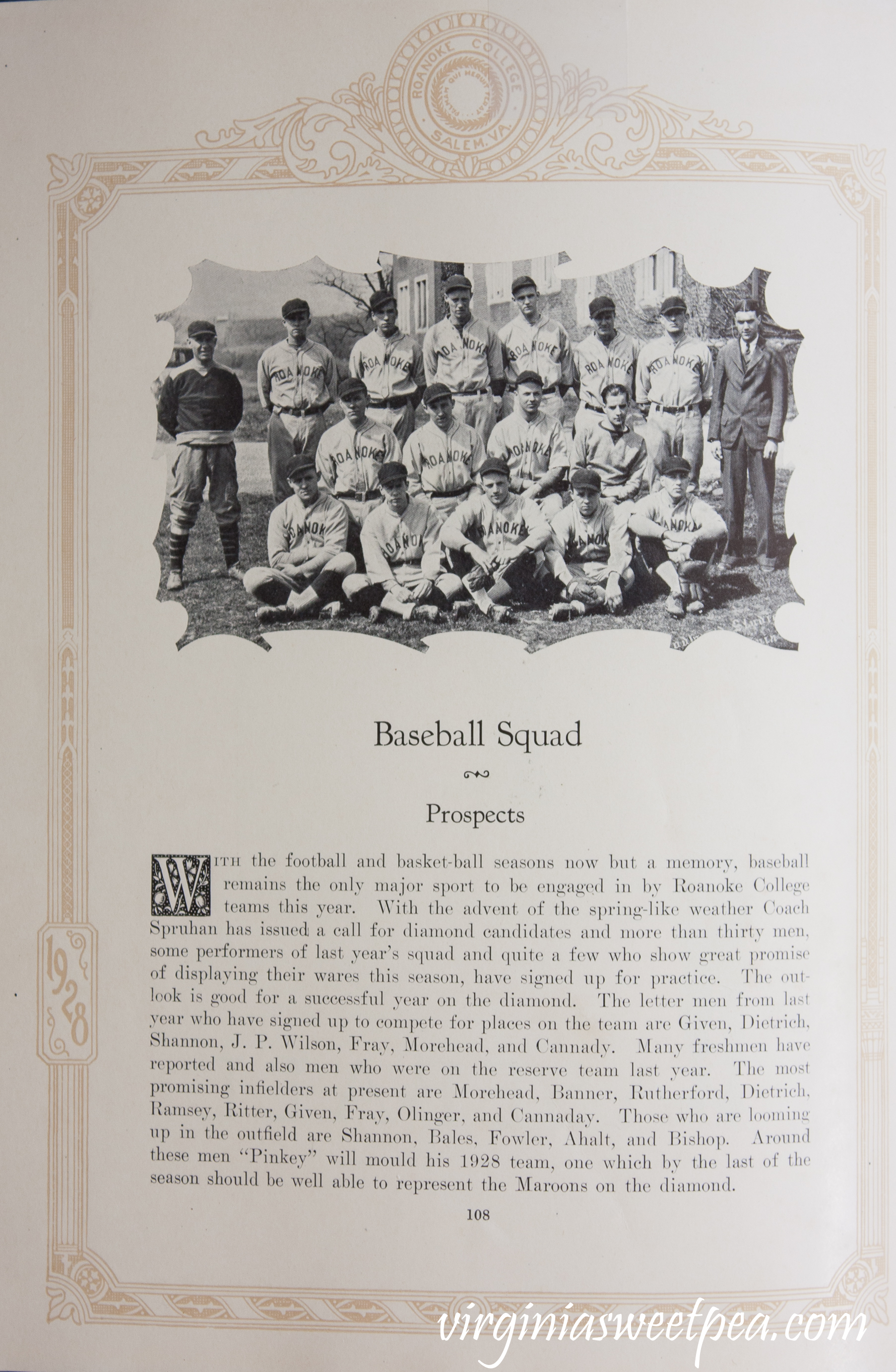 1928 Roanoke College Baseball Team
