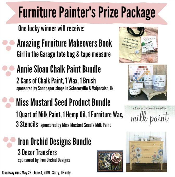 Giveaway for furniture painting supplies