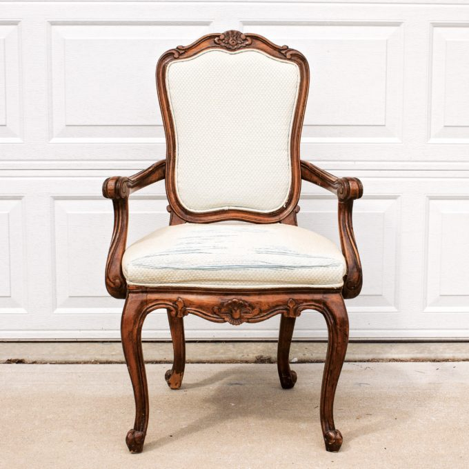 Before picture of a french armchair