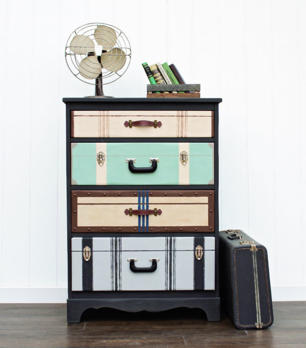 Suitcase Dresser from Amazing Furniture Makeovers by Jen Crider.