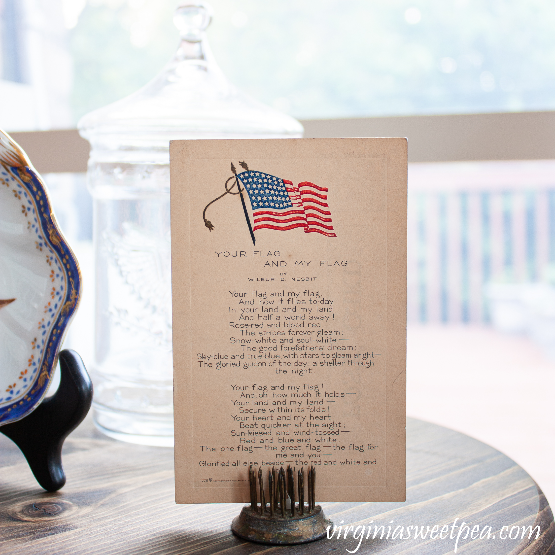 Wilbur D. Nesbit Your Flag and My Flag postcard