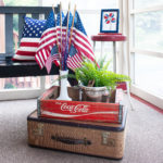 Patriotic Porch Decor with Vintage