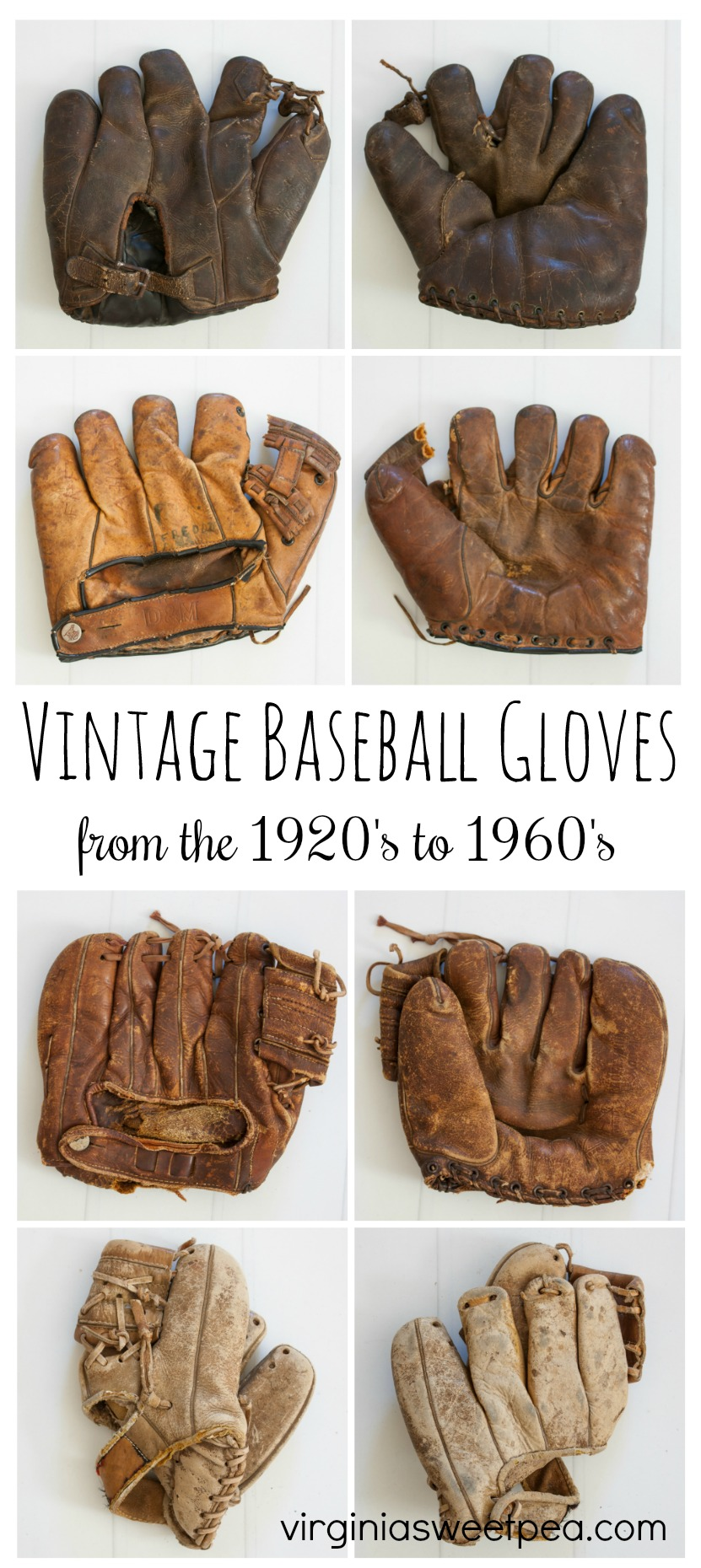 Vintage Baseball Gloves from the 1920's - 1960's