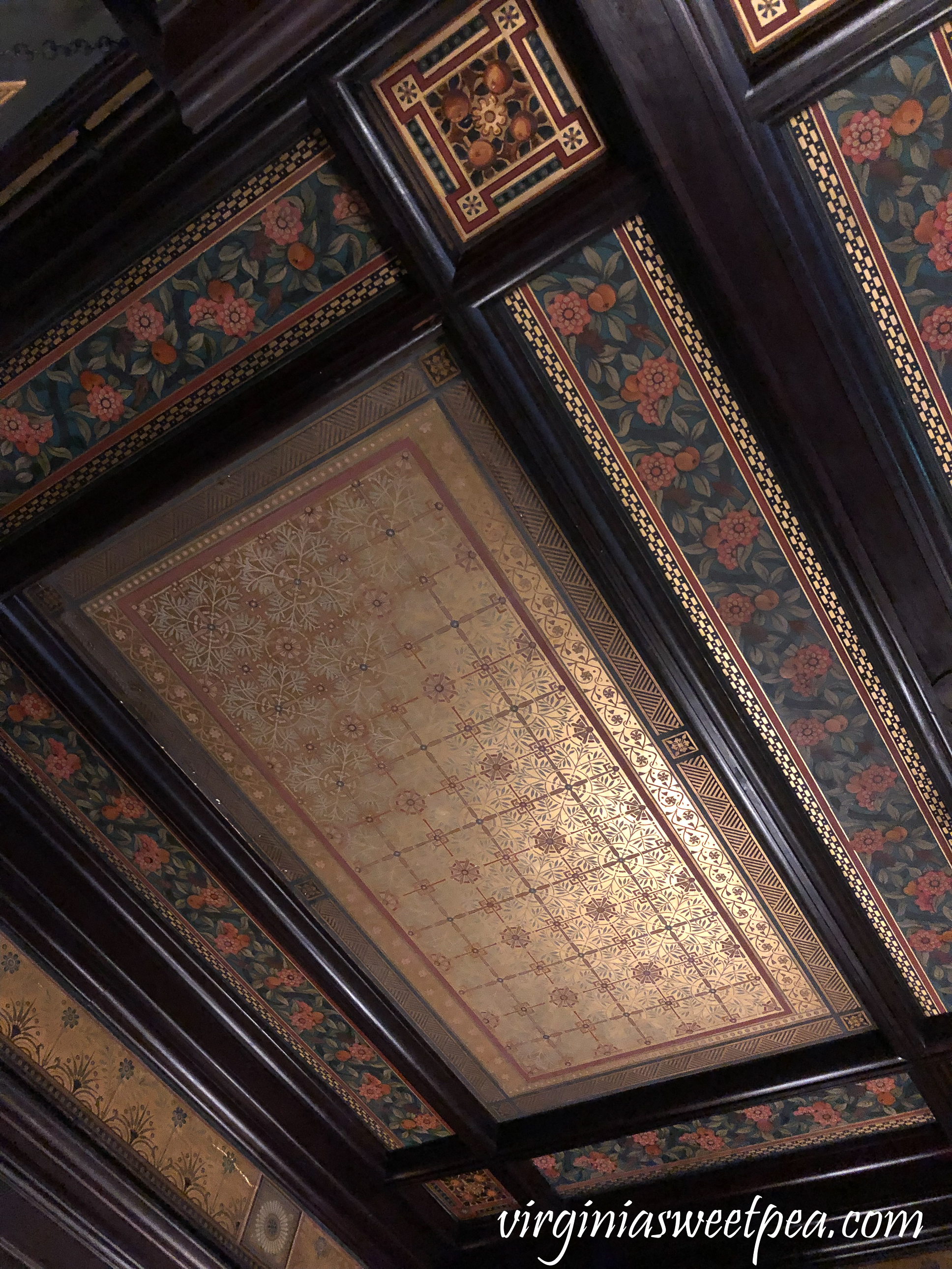 Ceiling at Chateau-sur-Mer in Newport, RI
