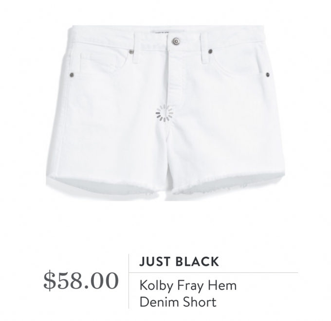 Stitch Fix Just Black Kolby Fray Hem Denim Short