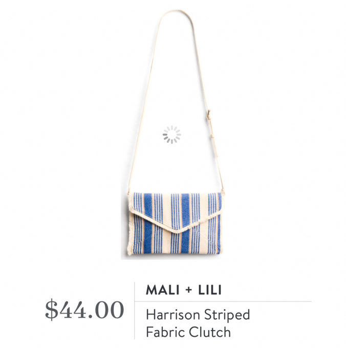 Stitch Fix Mali + Lili Harrison Striped Fabric Clutch