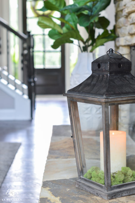 Lantern on a Fireplace Hearth