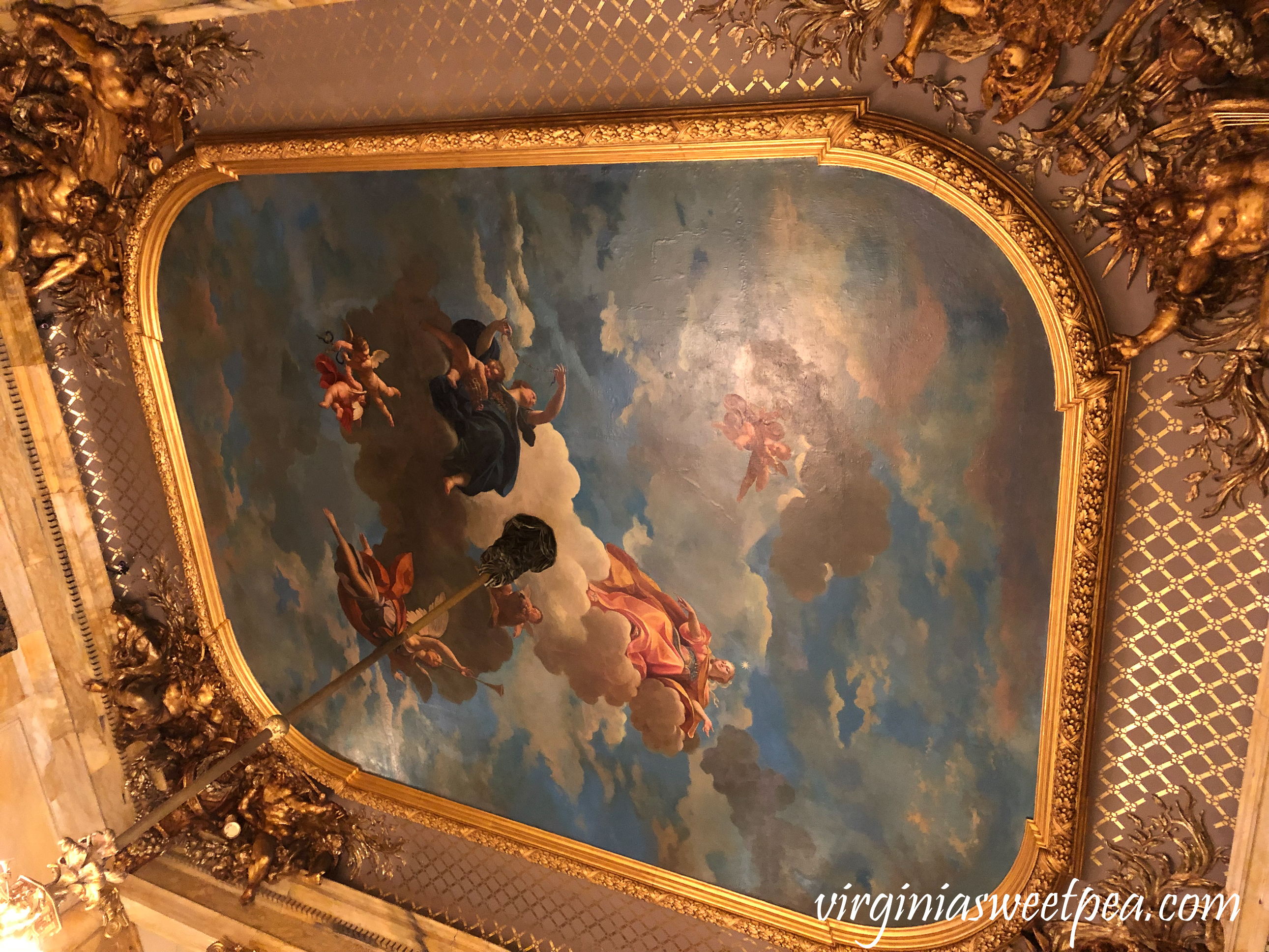 Painting on the ceiling at Marble House
