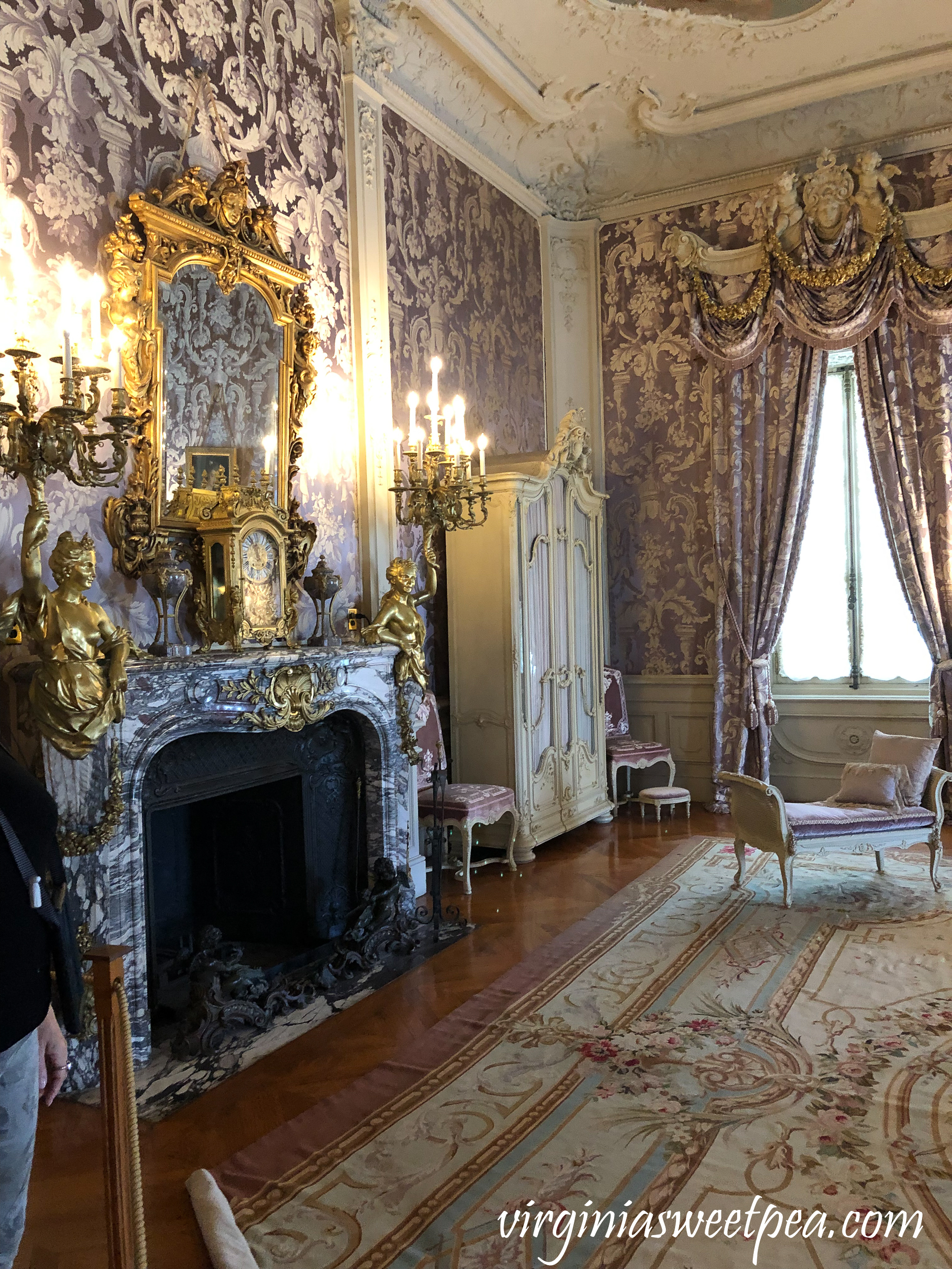 Alva Vanderbilt's bedroom at Marble House