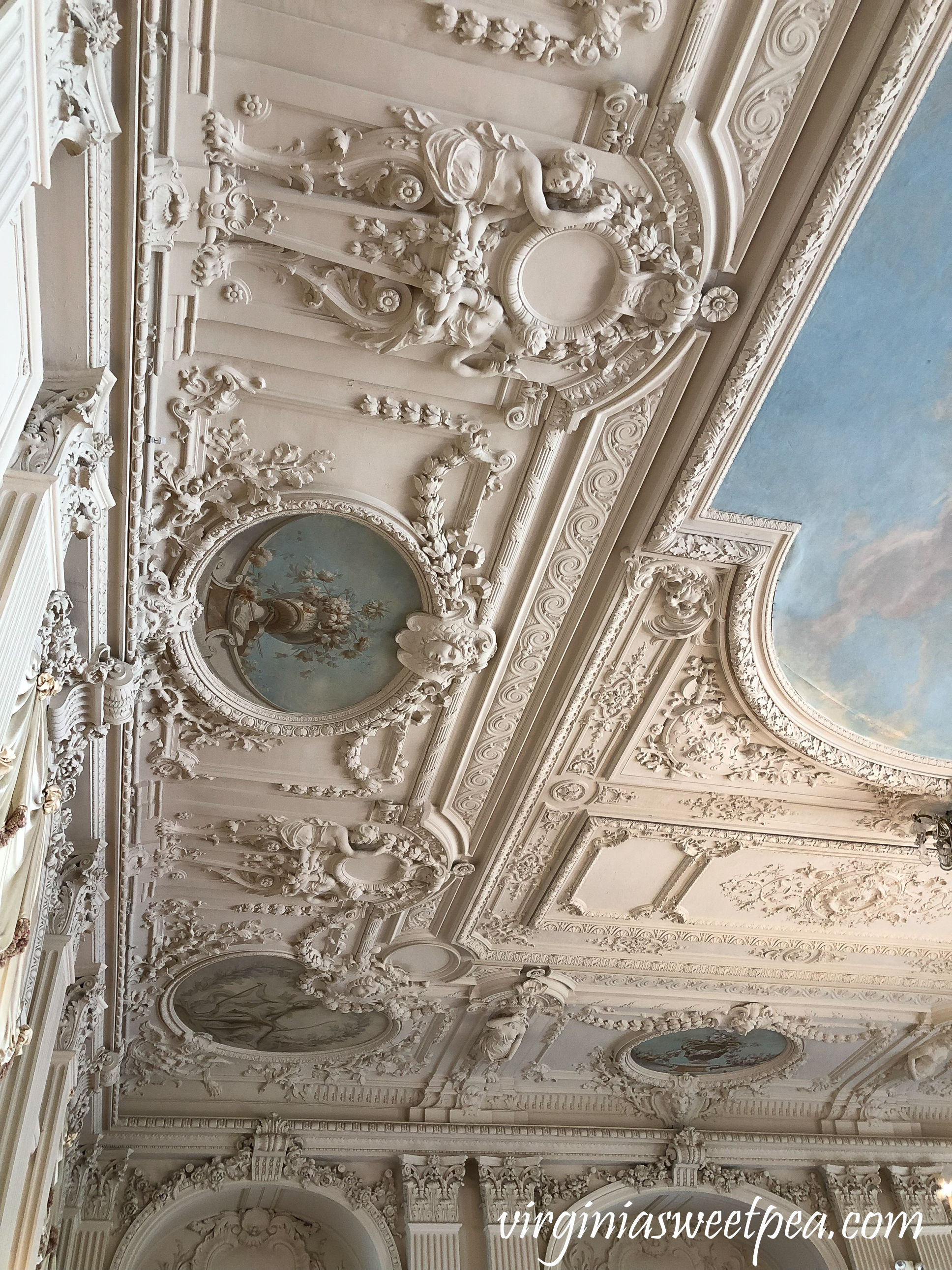 Ceiling in Ballroom at Rosecliff