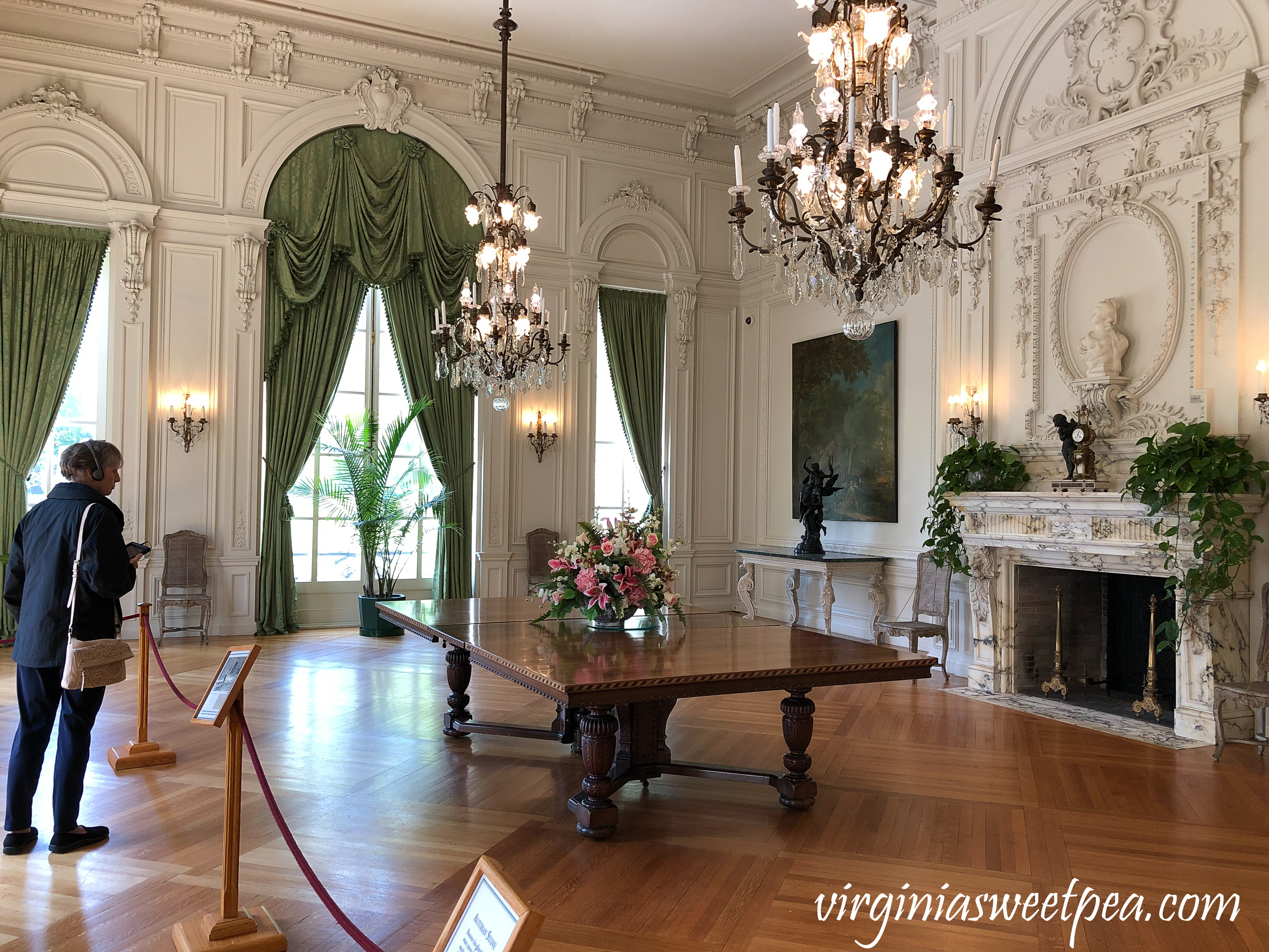 Dining Room in Rosecliff in Newport, Rhode Island