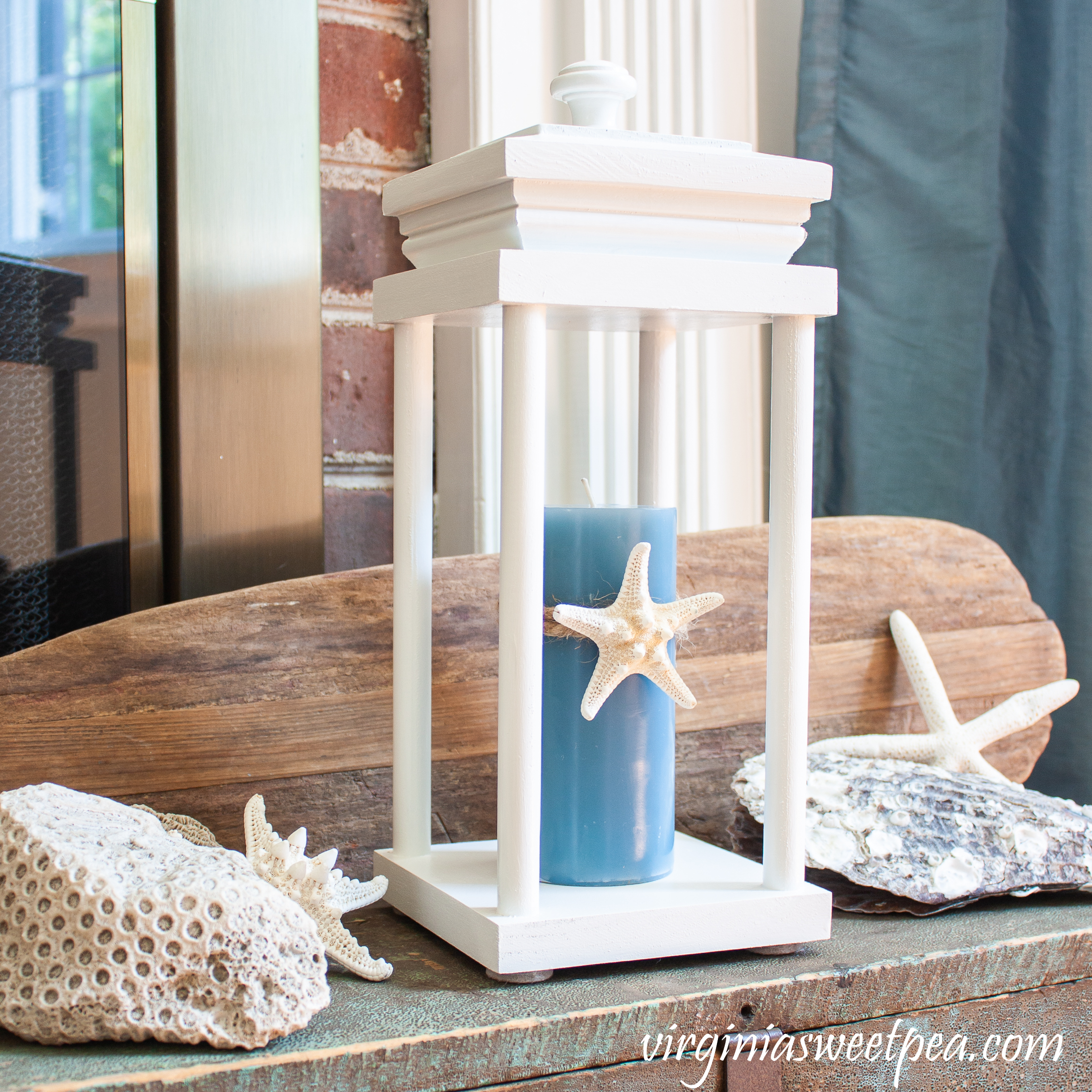 How to use a lantern for summer coastal decor