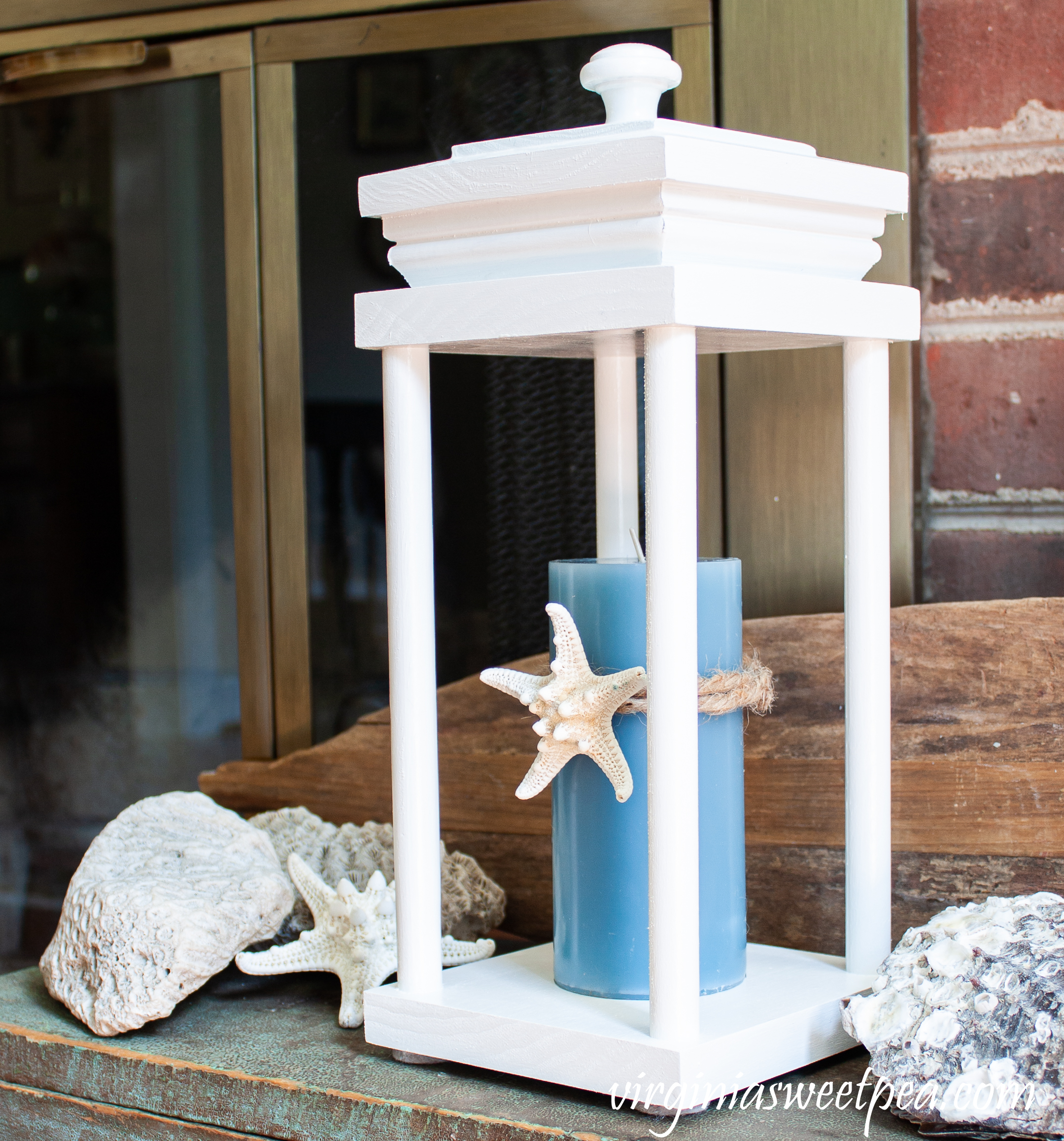Use a Lantern for summer decorating with a coastal vibe.