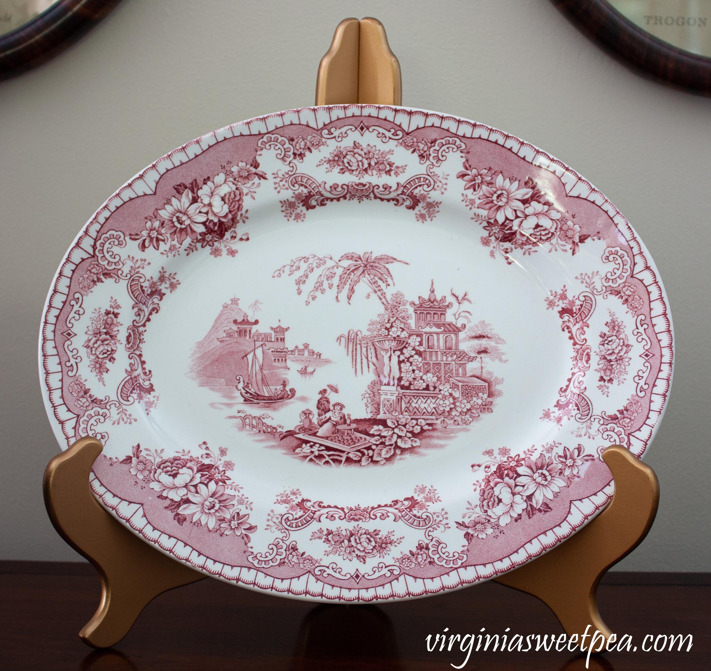 John Maddock & Sons Fine Vitreous Platter in Bombay