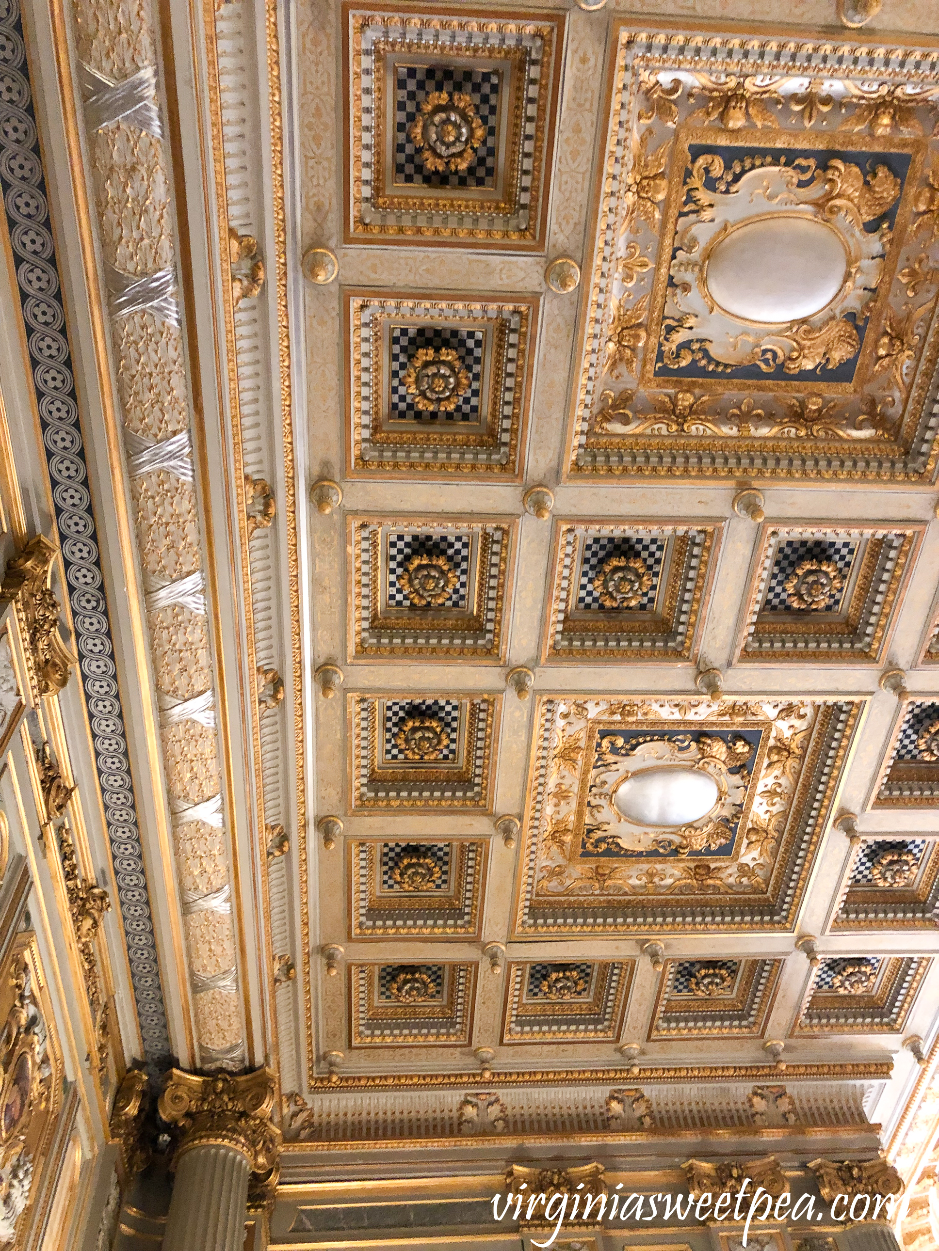 Ceiling in Music room in The Breakers in Newport, RI