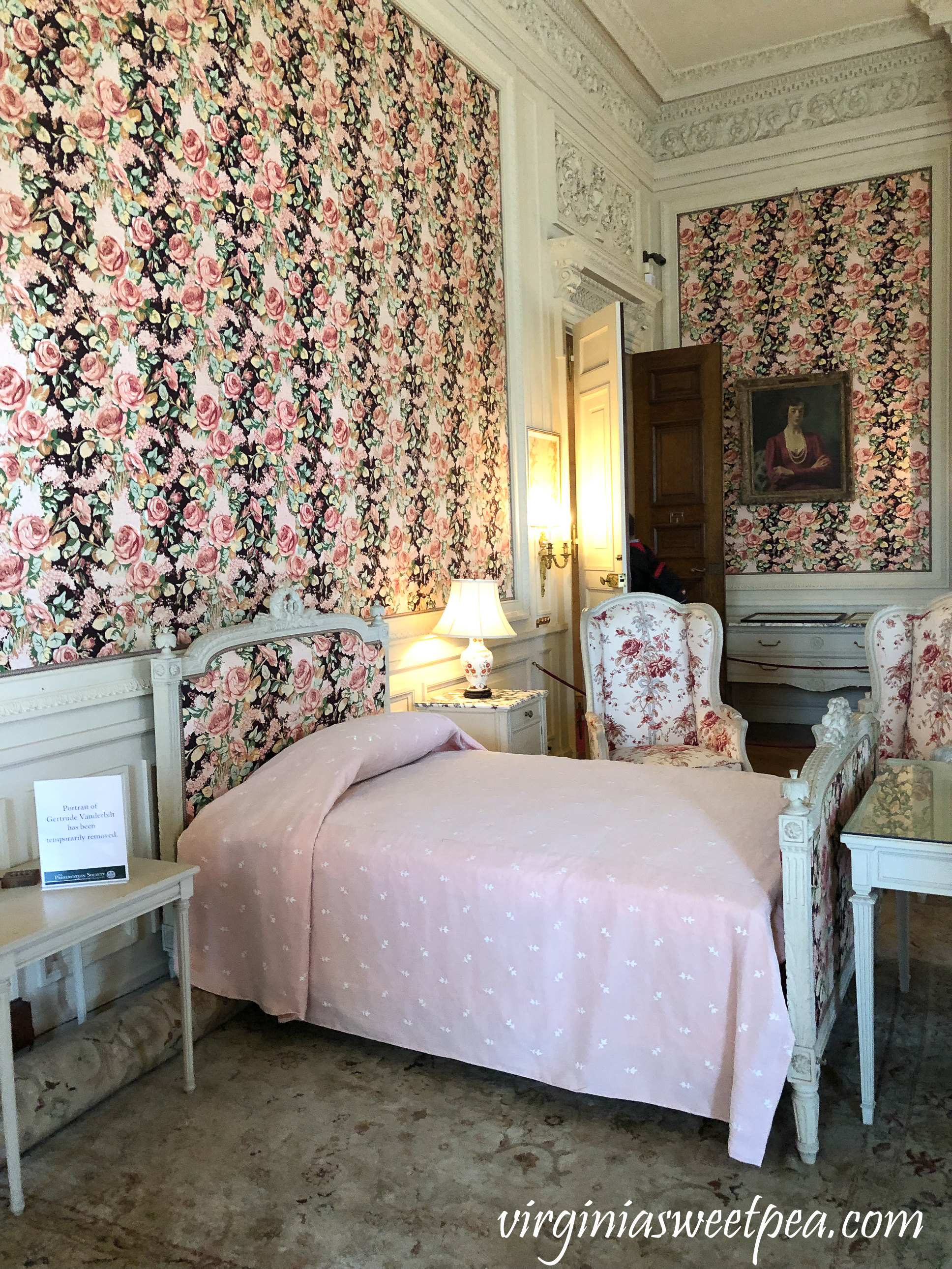 Mrs. Vanderbilt's bedroom at The Breakers in Newport, RI