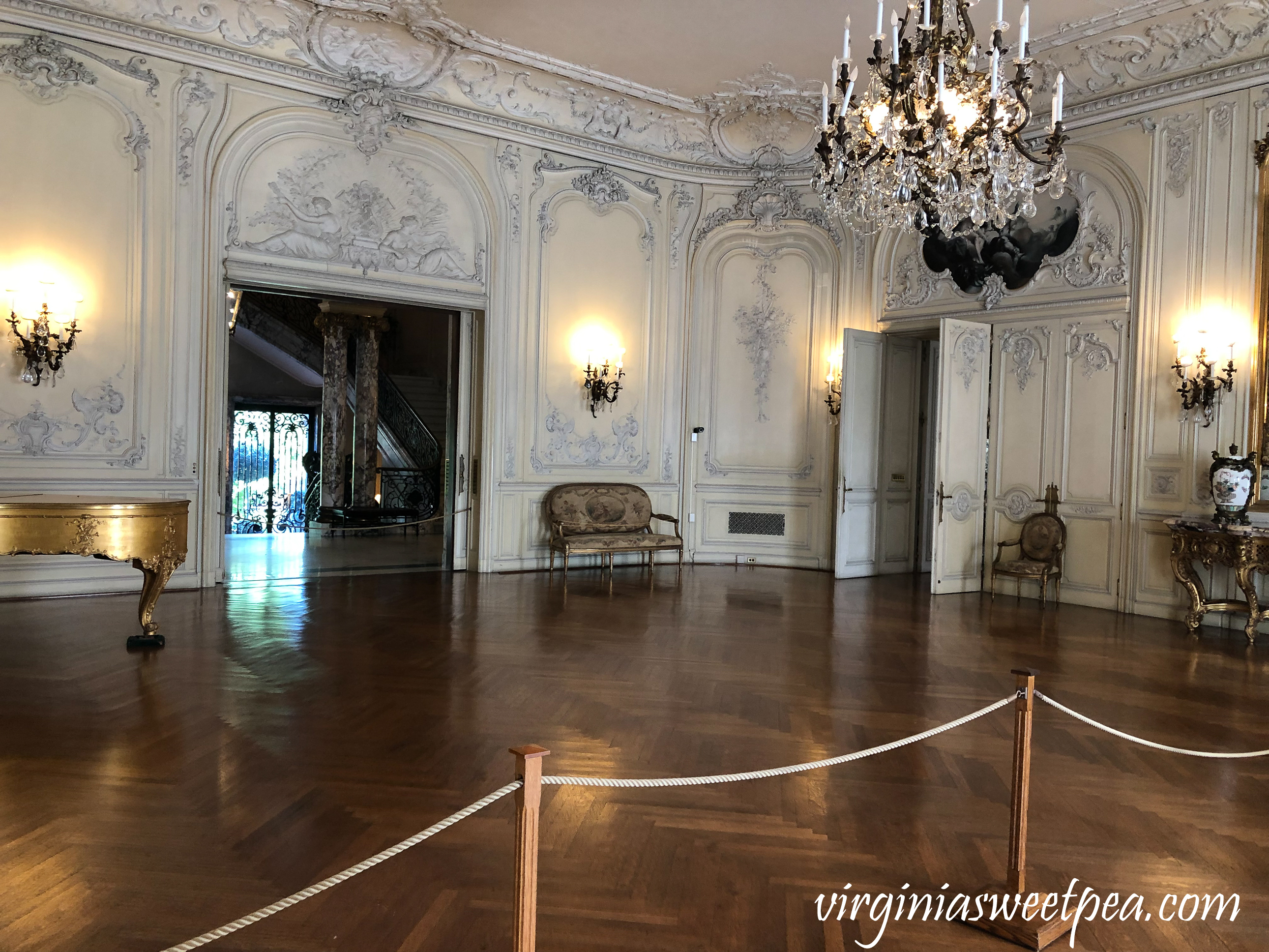 The ballroom in The Elms in Newport, RI