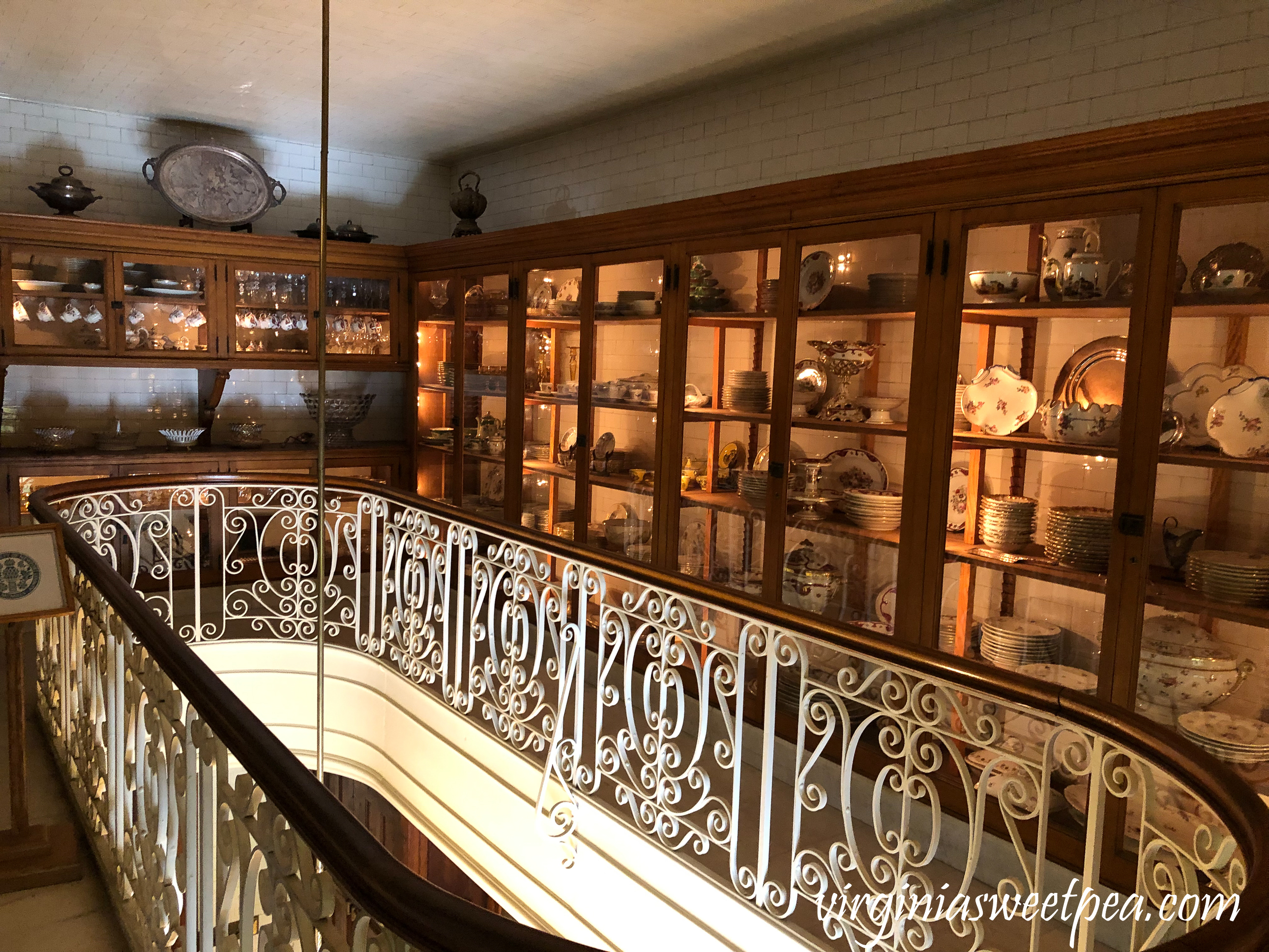 Butler's pantry in The Elms in Newport, RI