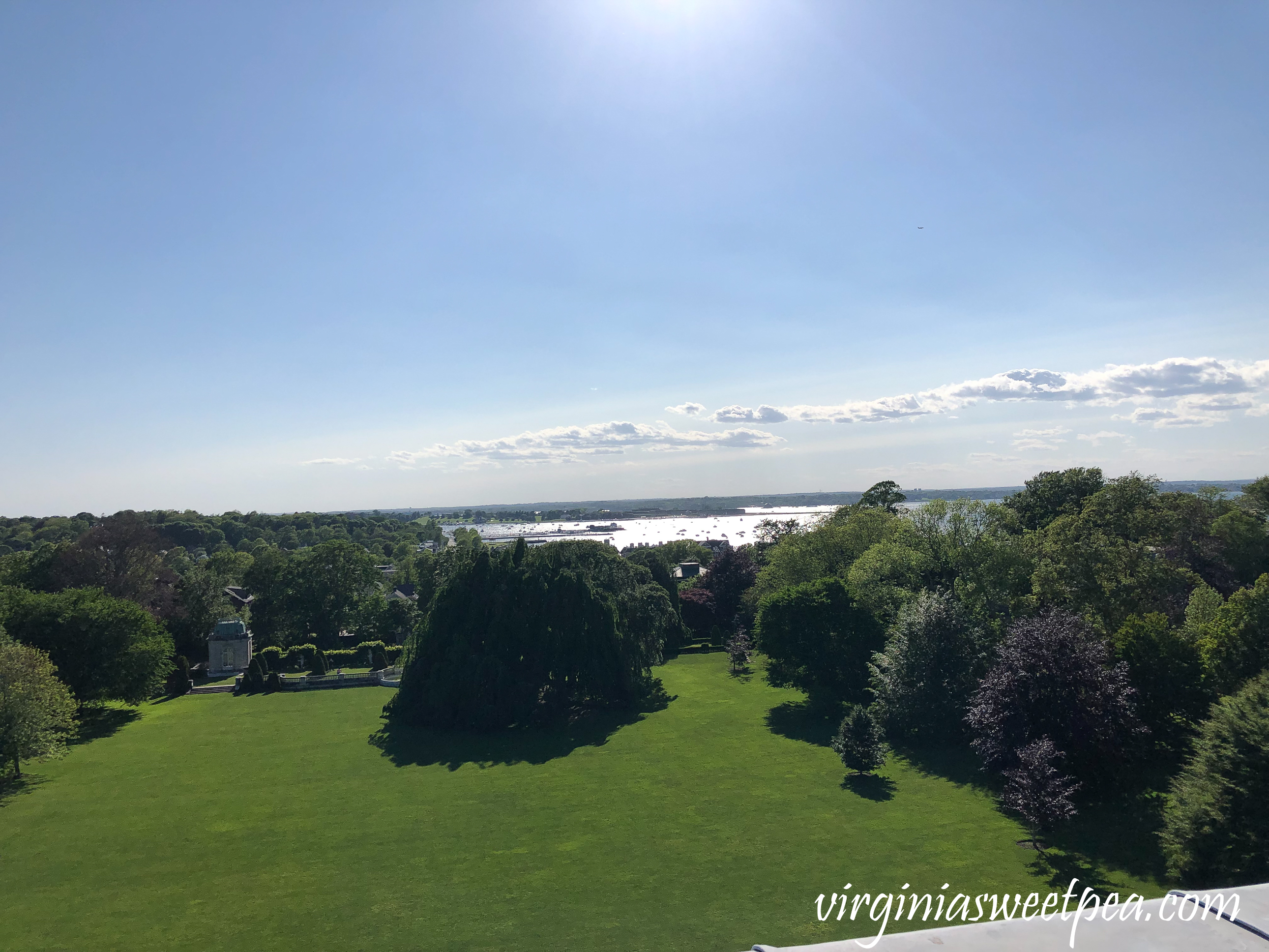View from the roof of The Elms in Newport, RI