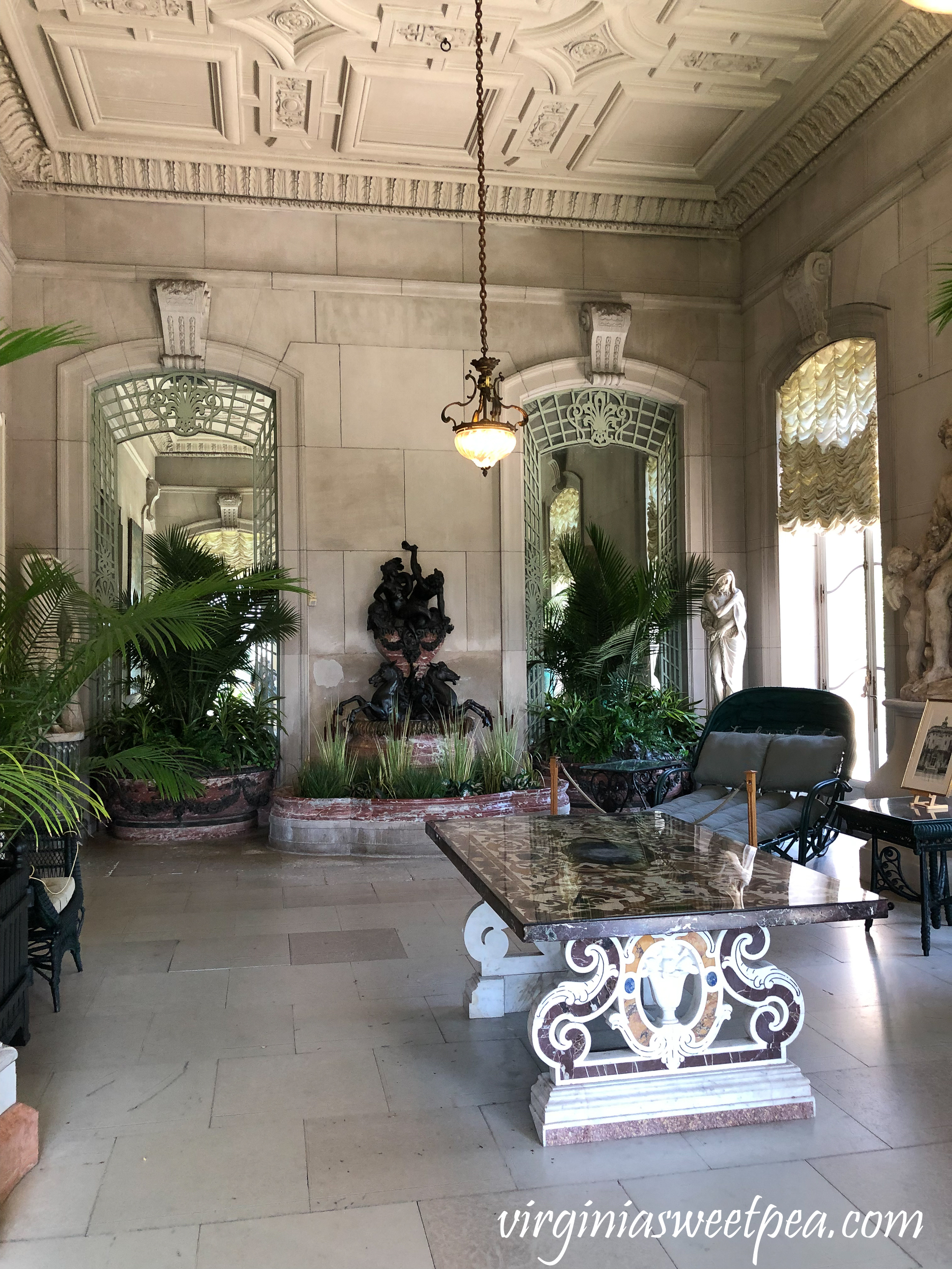The conservatory in The Elms in Newport, RI