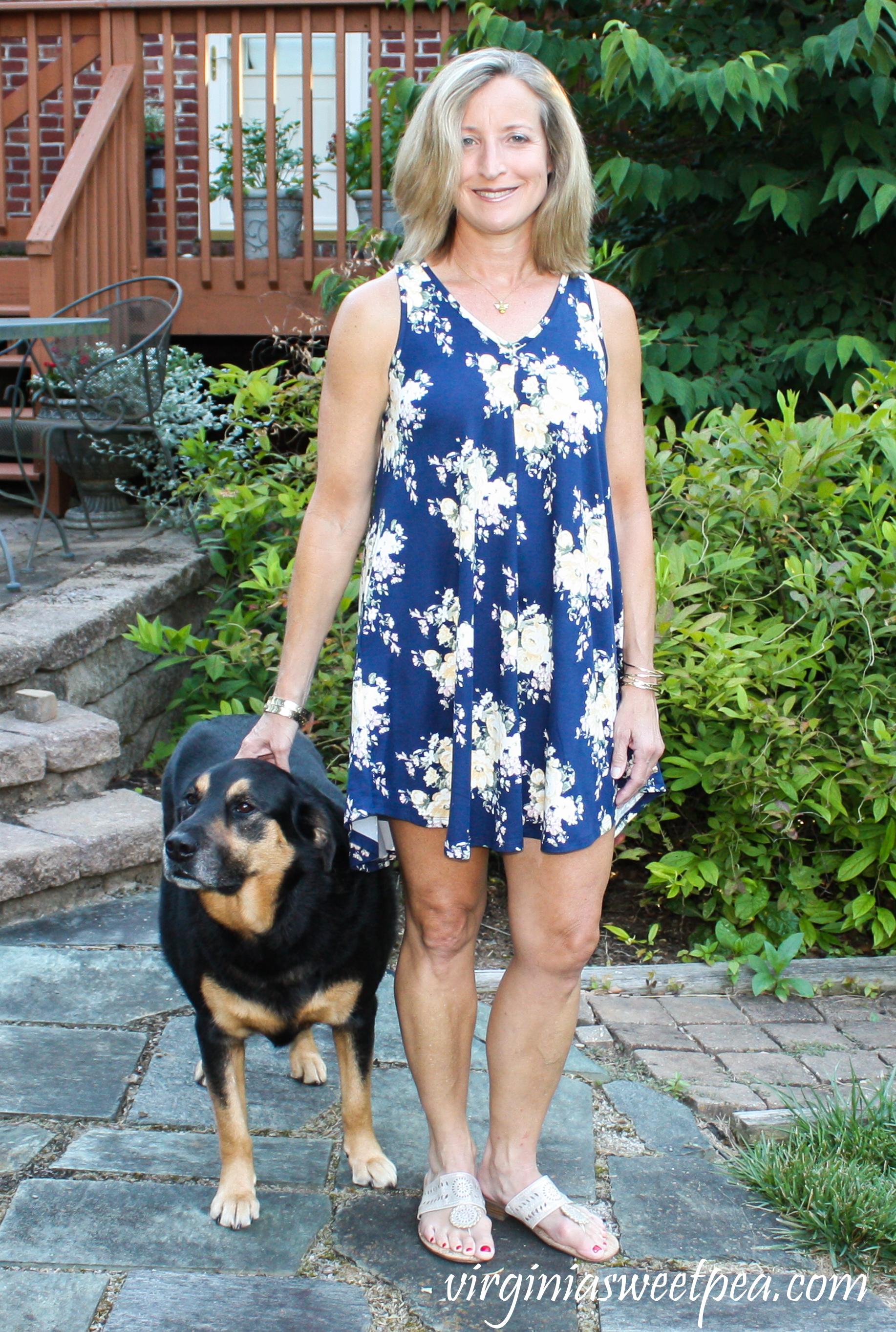 Fashom Crist & Carol Floral Sleeveless Dress