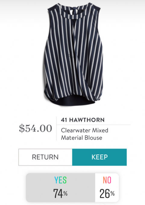 41 Hawthorn Clearwater Mixed Material Blouse