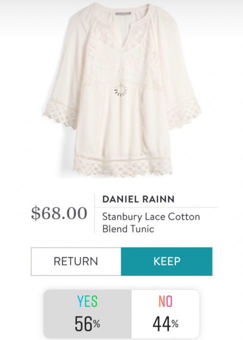 Stitch Fix Review - Daniel Rainn Stanbury Lace Cotton Blend Tunic