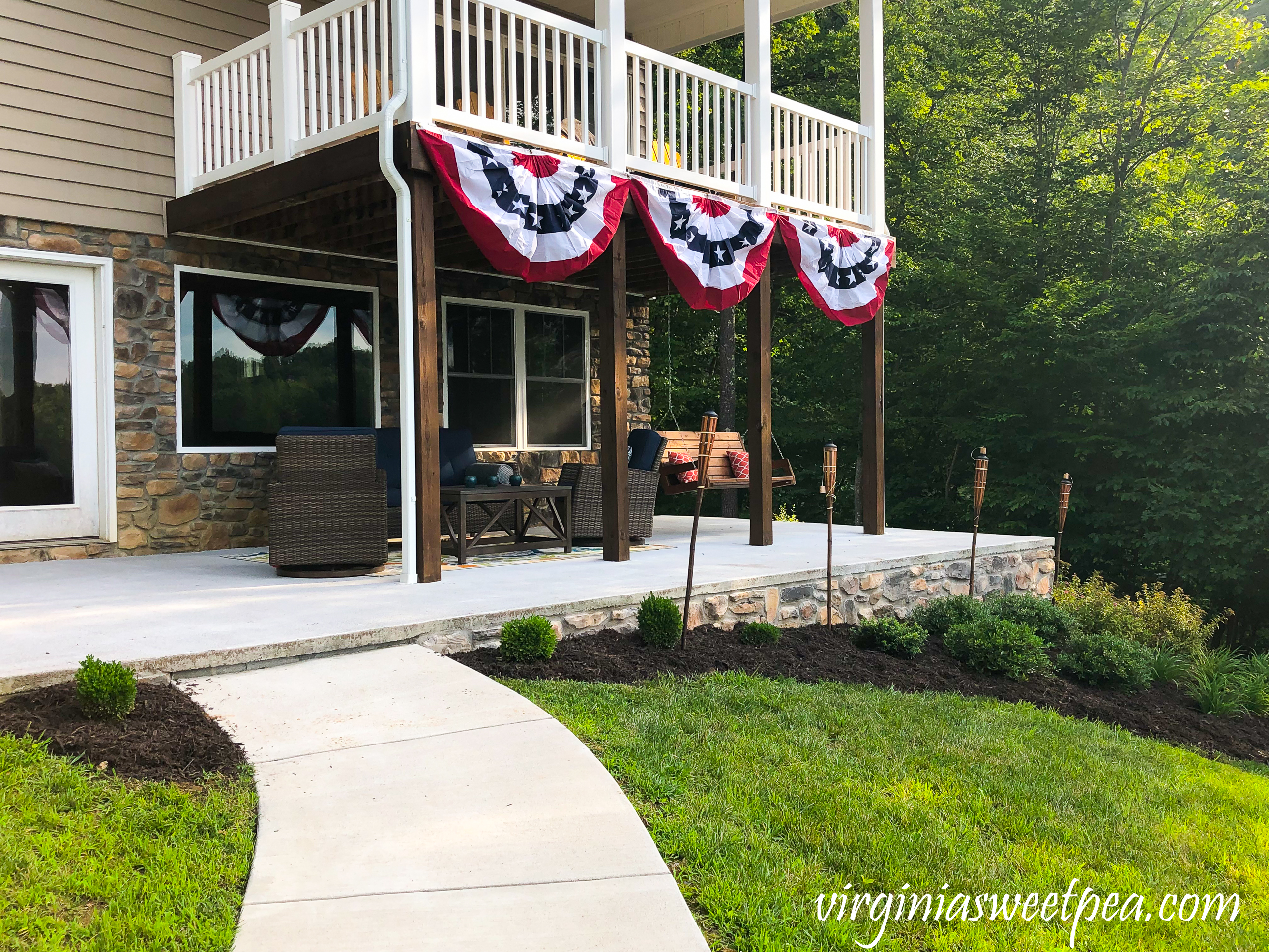How to add stone veneer added to a patio wall