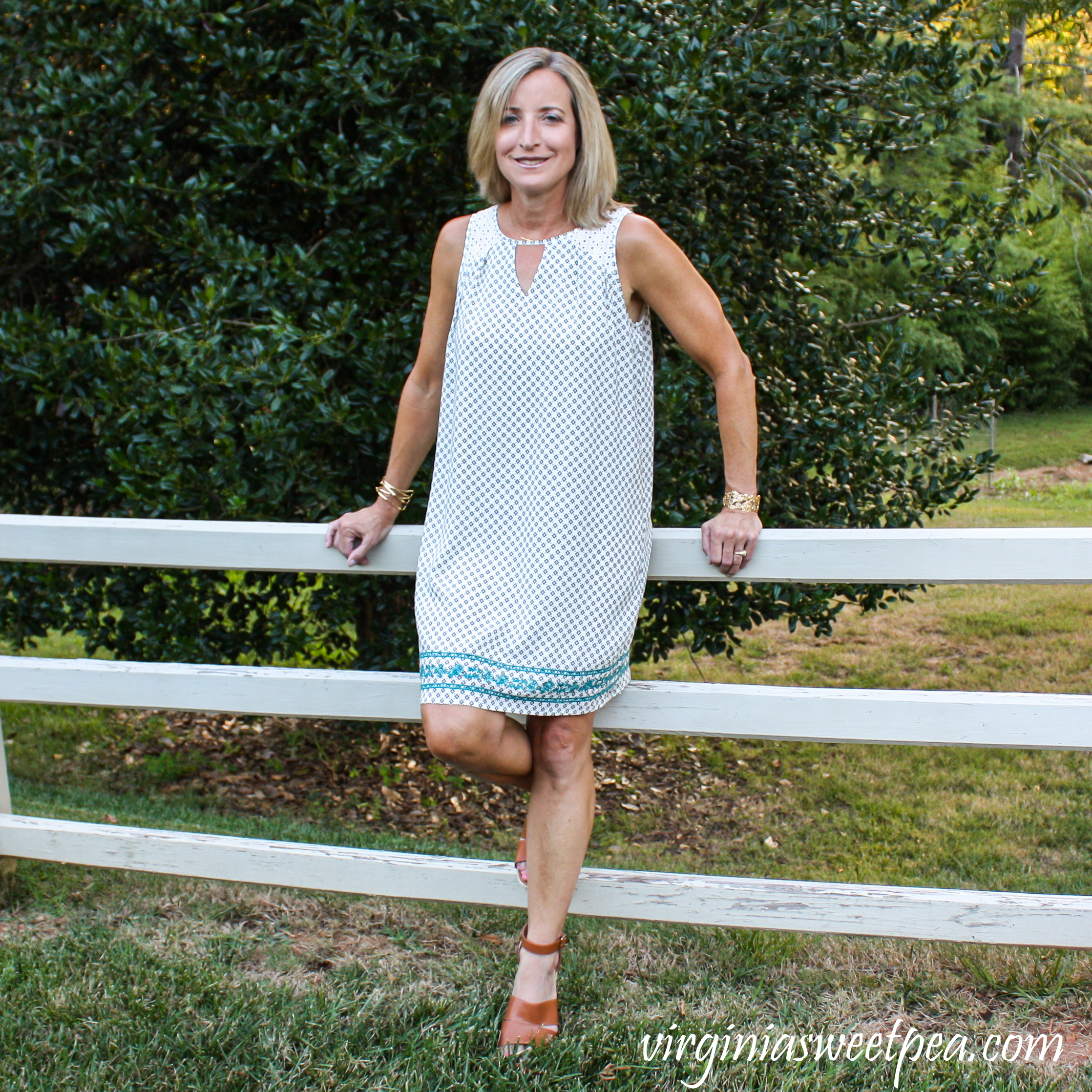 Stitch Fix Review for August 2019 - THML Jamey Eyelet Detail Embroidered Dress