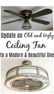 Update and old and ugly ceiling fan to a modern and beautiful one.