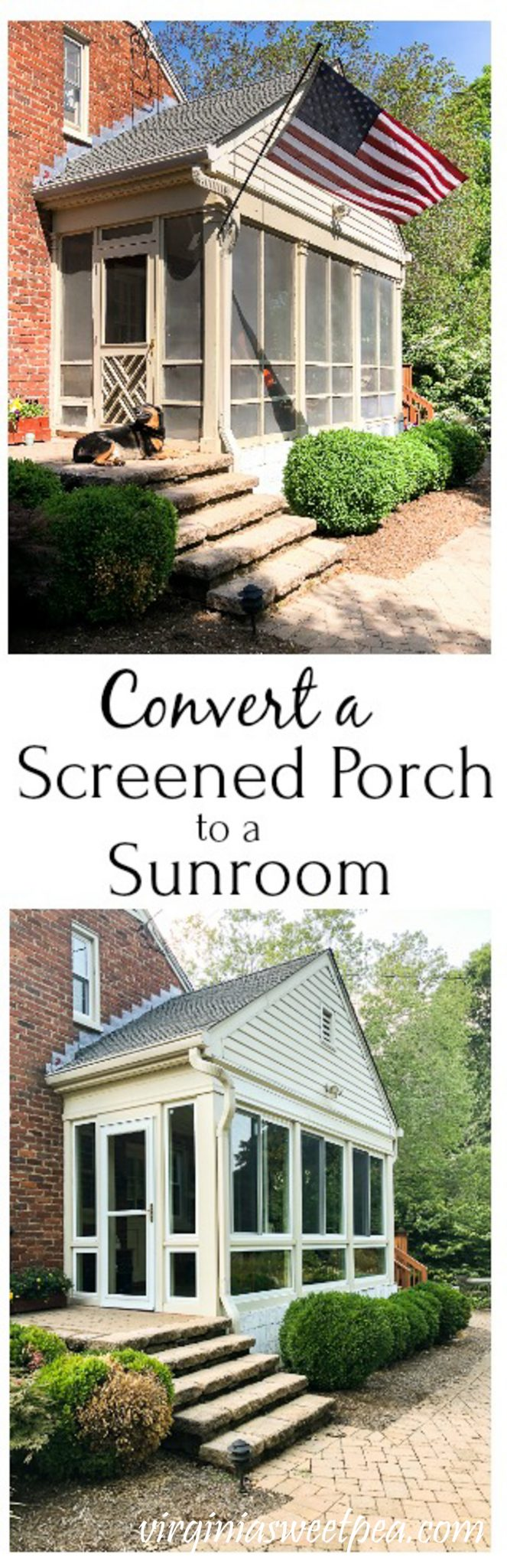 Converting a Screened Porch to a Sunroom - A 1950s screened porch is converted into a sunroom. via @spaula