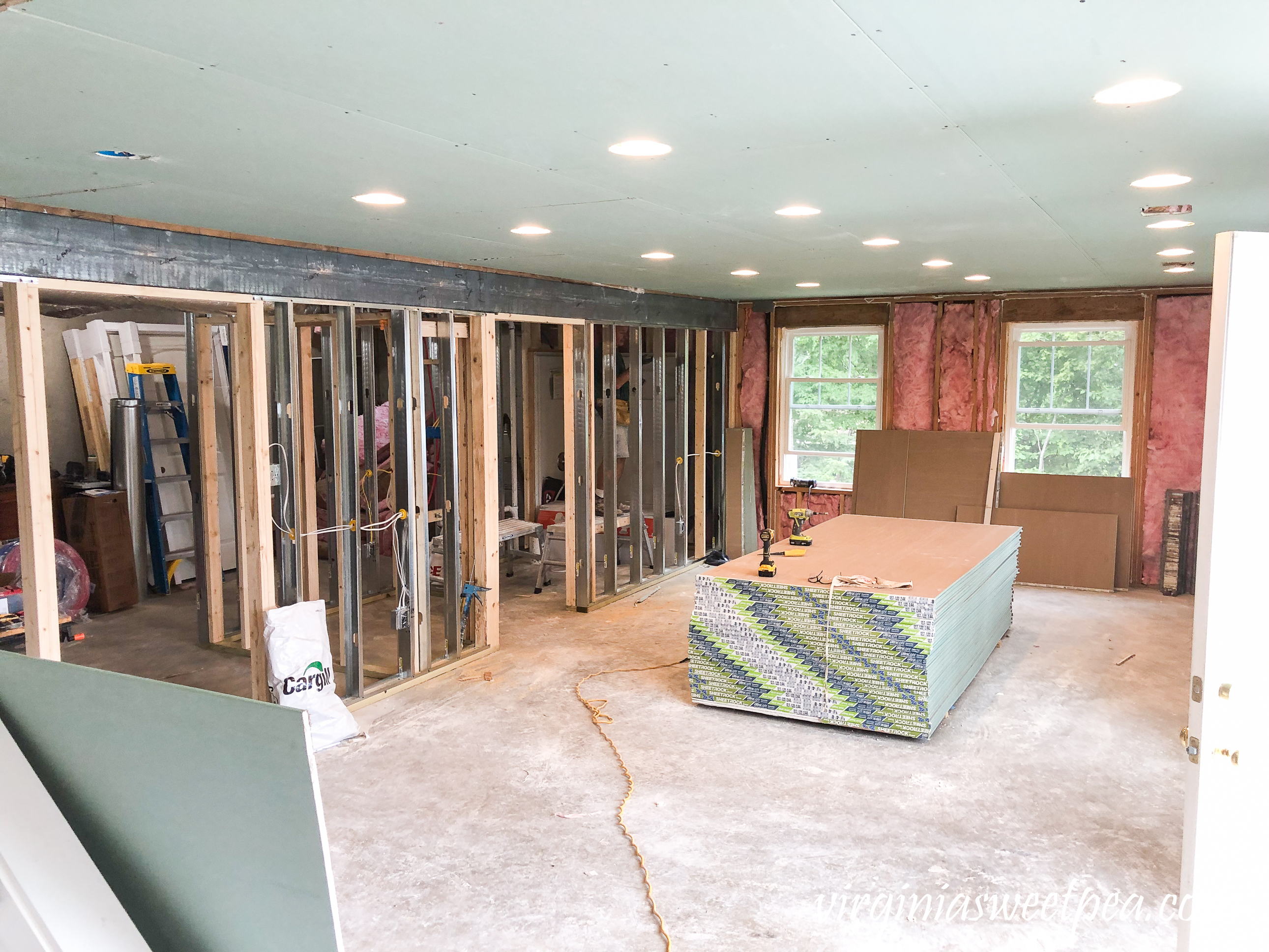Lake House Basement - Drywall