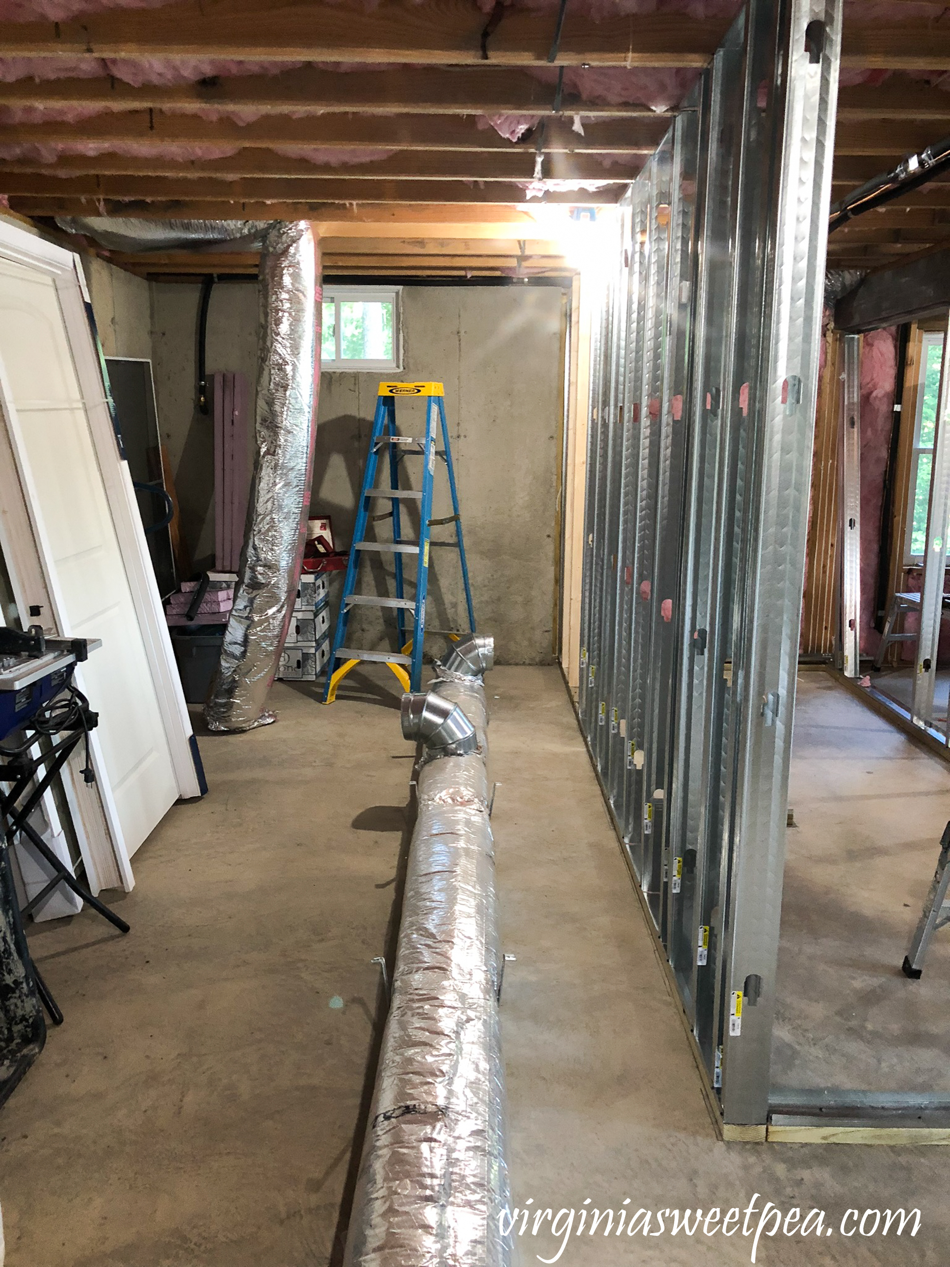 Lake House Basement Project - HVAC work