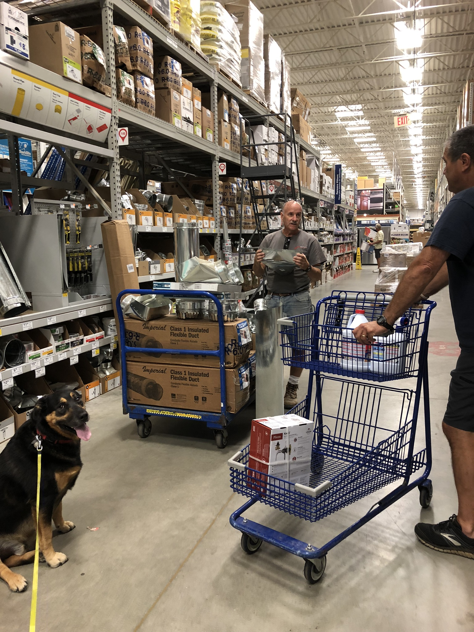 Shopping at Lowe's in Bedford, VA for supplies for our lake basement project
