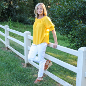 Stitch Fix Review for September 2019 - Sanctuary Nola Ruffle Detail Top with Tribal Kimora Cut Out Detail Pull On Pant
