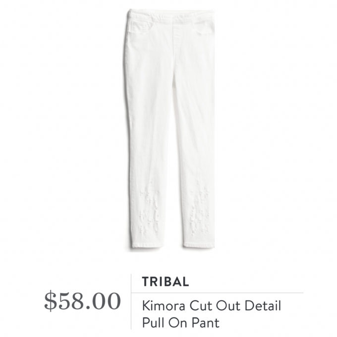 Stitch Fix Tribal Kimora Cut Out Detail Pull On Pant
